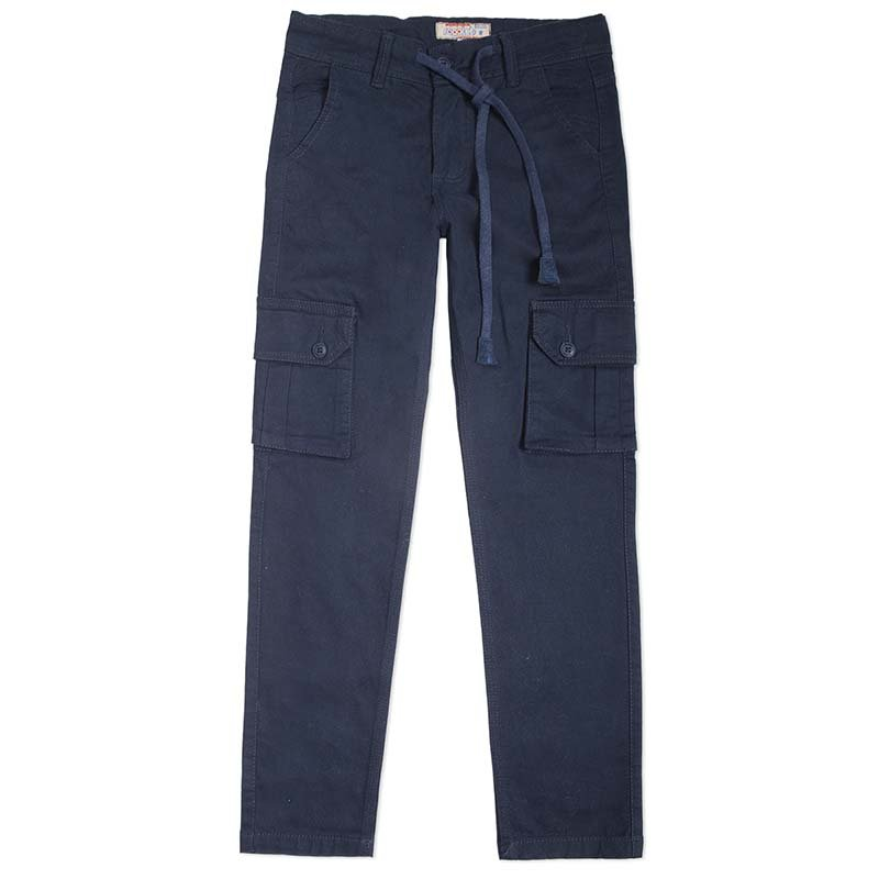 Pantalon En Dril Bolsillos Camuflados Con Tapa Rgt721 Rogalet Jeans